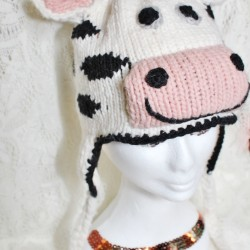 Cow Animal Beanie