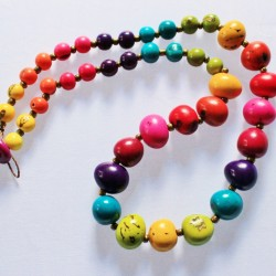 Fair Trade Tagua Rainbow Necklace