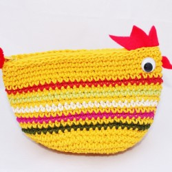 Multicoloured Fair Trade Chicken Purse