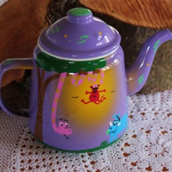 Hand painted Safari Teapot