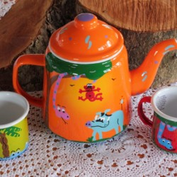 Fair Trade Enamelware Tea Set