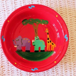 Fair Trade Handpainted Enamelware Bowl